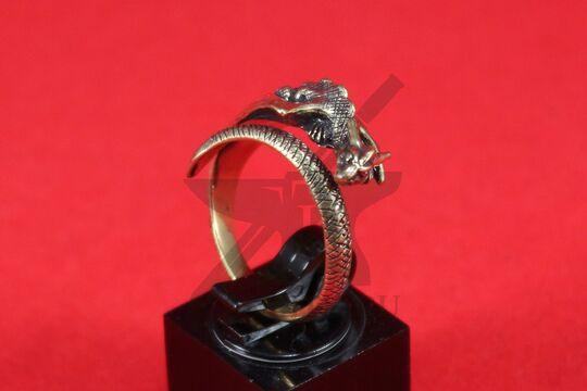 """Кольцо """"Спящий дракон"""", вариант 1, литье, латунь, фото 3"""