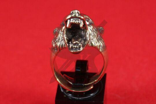 """Кольцо """"Волк с открытой пастью"""", фото 2"""