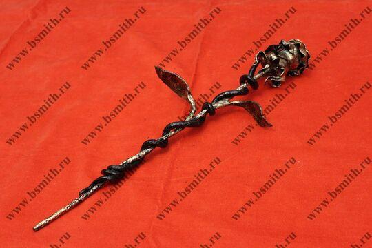 Кованая роза с змеей, фото 4