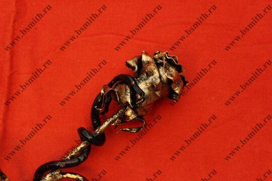 Кованая роза с змеей, фото 5