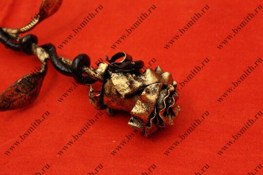 Кованая роза с змеей, фото 7
