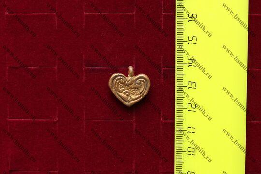 """Подвеска """"сердце"""", вариант 2, размеры"""