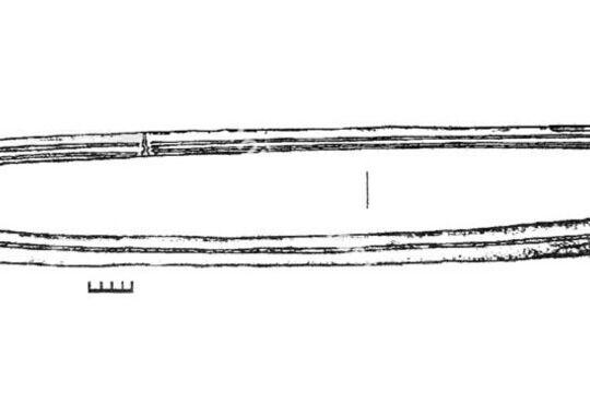 Сабля из Золотаревского городища, зарисовка артефакта