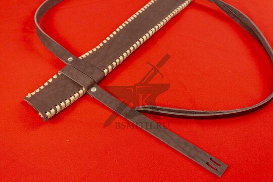 Ножны кожаные для вакидзаси, коричневые, фото 2