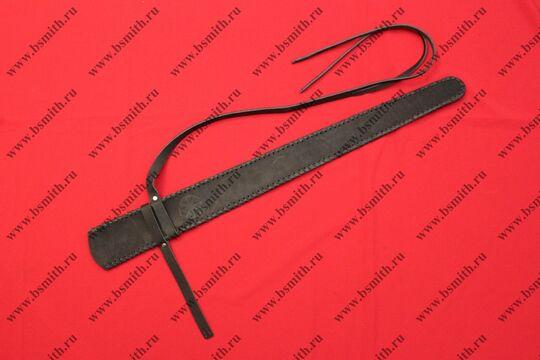 Ножны кожаные одноручные с тиснением, черные, фото 3