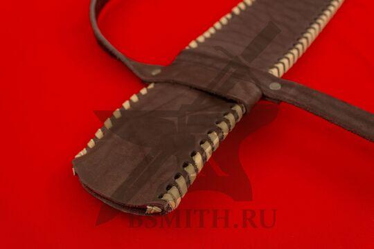Ножны кожаные одноручные, устье