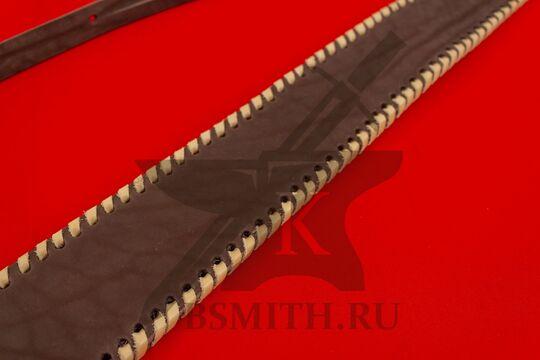 Ножны кожаные одноручные, плетение