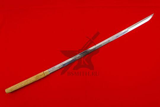 Японский меч-посох сикомидзуэ с изогнутым клинком
