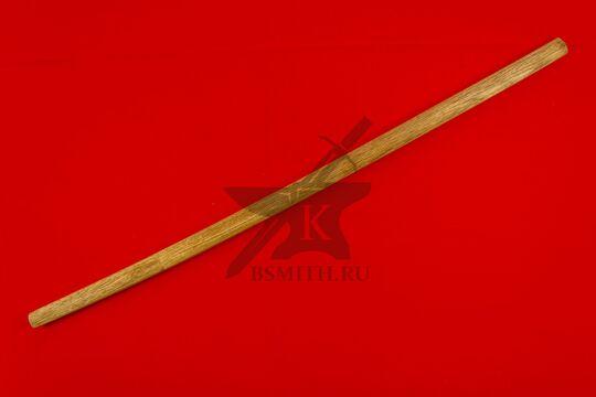 Японский меч-посох сикомидзуэ с изогнутым клинком, в ножнах