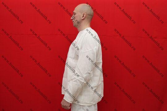 Рубаха мужская, Русь, лен отбеленный, вид сбоку