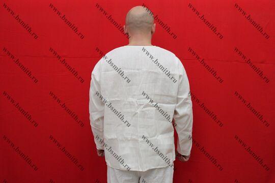 Рубаха мужская, Русь, лен отбеленный, вид со спины