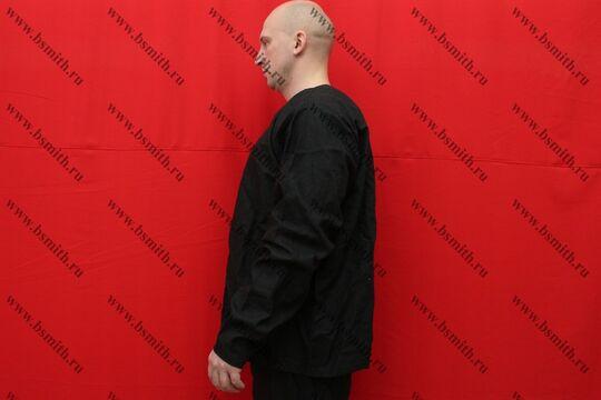 Рубаха мужская, Русь, лен черный, фото 2