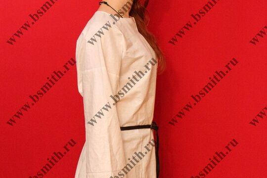 Рубаха женская, Русь, лен. Ручной шов. фото 10