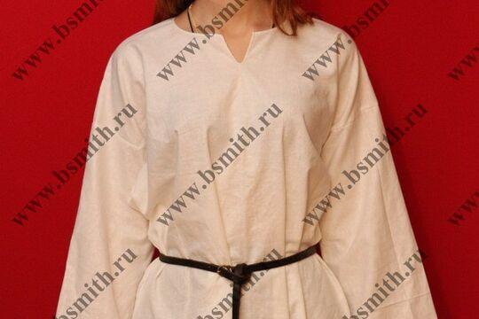 Рубаха женская, Русь, лен. Ручной шов. фото 2
