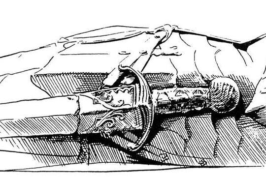 Меч тип XXI Чезаре Борджиа, артефакт, фото 2