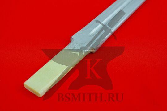 Клинок текстолитовый 75/85 см, хвостовик крупно, фото 2