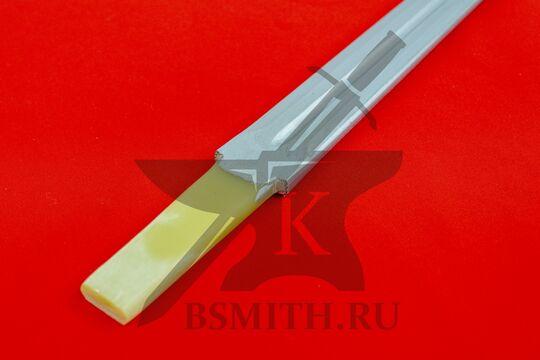 Клинок текстолитовый 85/95 см, хвостовик крупно, фото 2