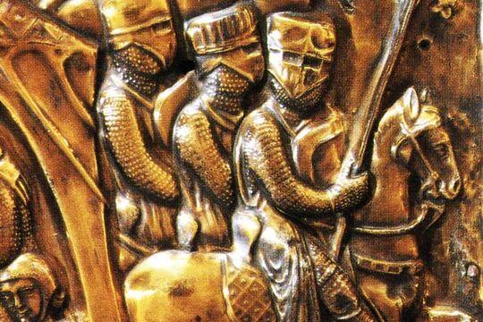 Фрагмент изображения на саркофаге Карла Великого