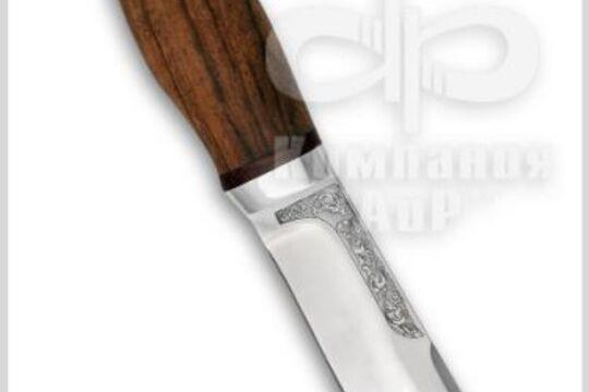 Нож Тундра, рукоять орех, фото