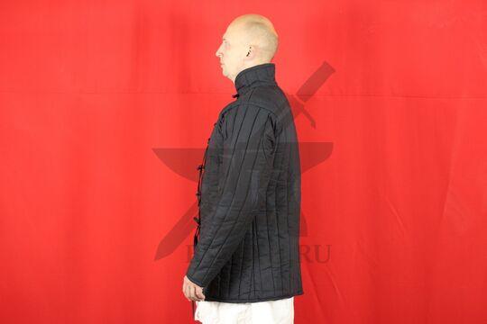 Стеганая куртка, 2 слоя, длина 80 см, х/б, вид сбоку