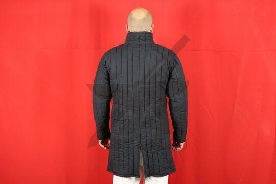 Стеганая куртка, 2 слоя, длина 100 см, х/б, вид со спины