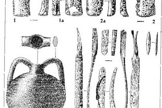 """Наручи """"каирки"""" (реконструкция), фото прорисовки артефакта"""