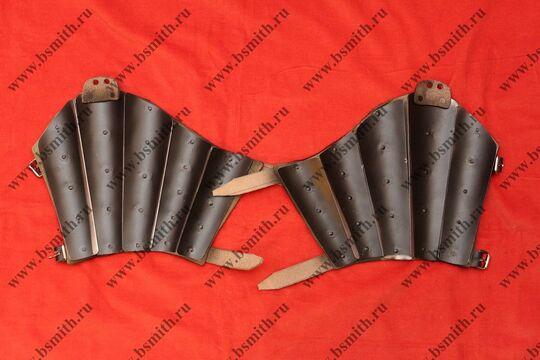Наручи бригандные, сукно, стальные пластины, фото 2