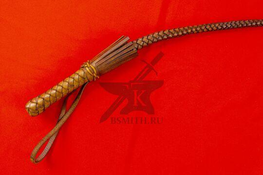 Нагайка кубанская рядовая, 6 полос, коричневая, рукоять крупно