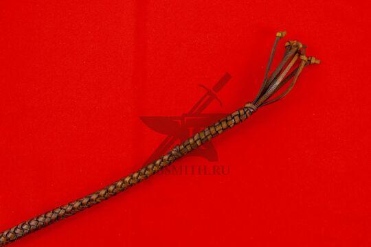 Нагайка кубанская рядовая, 6 полос, коричневая, кончик