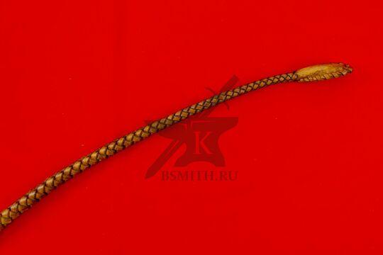 Нагайка боевая кубанского типа, 6 полос, коричневая, шлепок