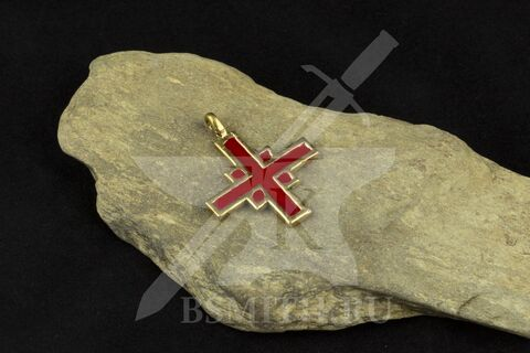 Крест нательный, вариант 4, эмаль