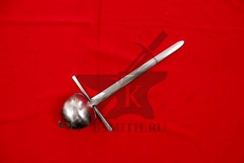 Кинжал с щитком дюралевый полированный