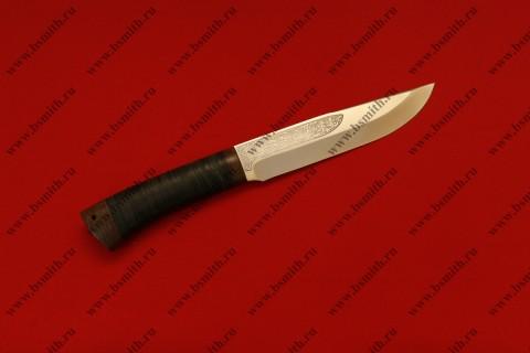 """Нож """"Шашлычный средний"""", рукоять наборная кожа, фото 1"""