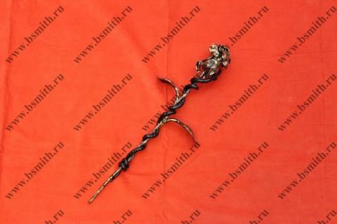 Кованая роза с змеей, фото 1