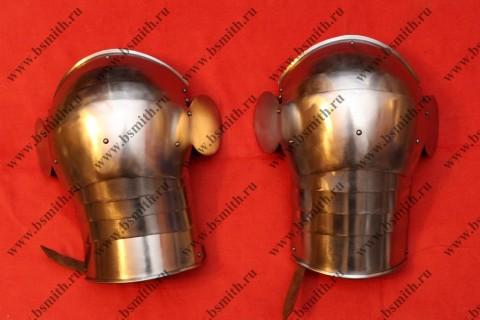Наплечники сегментные с лепестками, сталь 65Г, фото 1