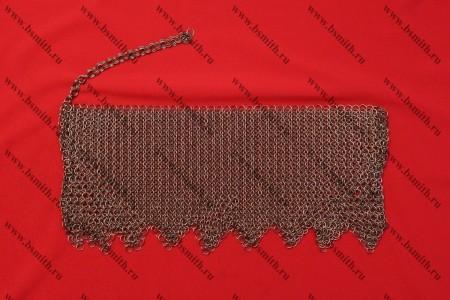 Бармица прямая с фестонами омедненная, 1.6х9 мм, фото 1