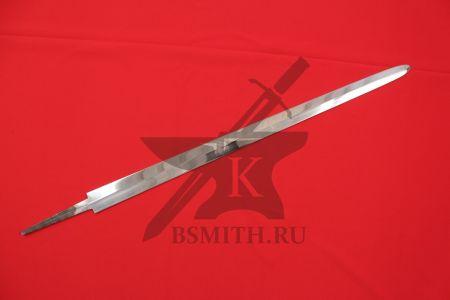 Клинок готического меча полированный