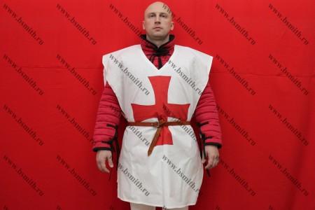Котта д'арм белая с красным крестом, бязь