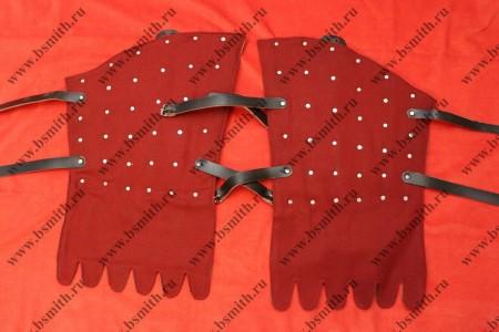 Набедренники бригандные, основа сукно, подложка брезент, пластины стальные, фото 1