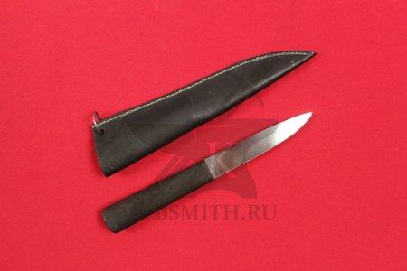 Нож бытовой, дуб обожженный, с ножнами