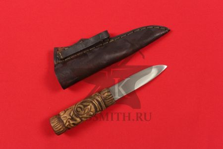 Нож бытовой средневековый, вариант 9, с ножнами