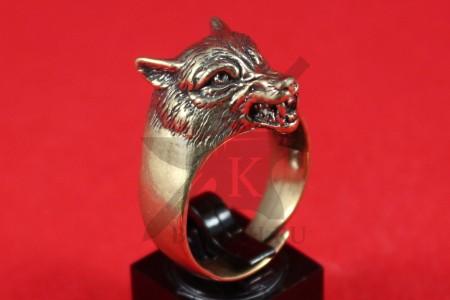 """Кольцо """"Волк с оскалом"""""""