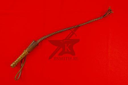 Нагайка кубанская рядовая, 6 полос, коричневая