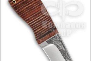 Нож Нерпа, рукоять наборная кожа, фото