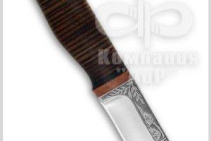 Нож Шмель, рукоять наборная кожа, фото