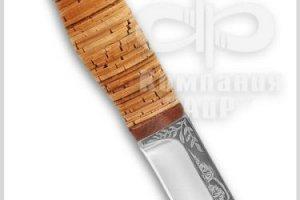Нож Шмель, рукоять наборная береста, фото