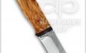 Нож Шмель, рукоять карельская береза, фото