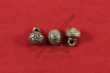 Пуговица, Русь, 14-16 века, литье, латунь, фото 1