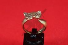 """Кольцо """"Лиса"""" (фентези), литье, бронза, фото 1"""