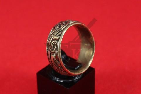"""Кольцо с орнаментом """"Два зверя"""", литье, фото 1"""